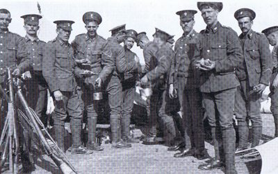 Royal Inniskillings - Lunch time, 1st Bn Tientsin, Northern China, 1911