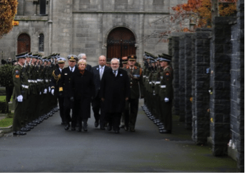 Dedication of the France-Ireland Memorial, Glasnevin, 13 November 2016
