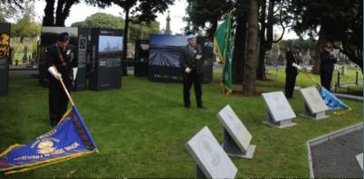 Unveiling of Victory Cross Commemorative Stones, Glasnevin 11 November, 2016