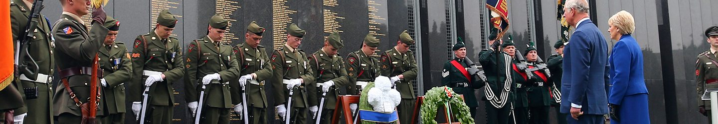 Unveiling of Victoria Cross Commemorative Stones – Glasnevin – 10 May 2017