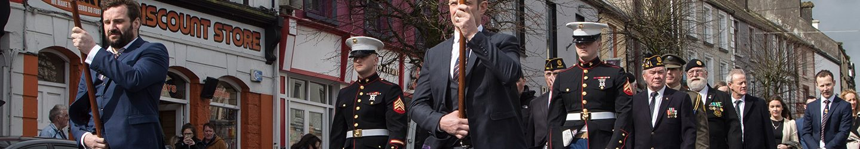 Corporal Patrick Gallagher USMC – Memorial Day – Ballyhaunis – 30 March 2017