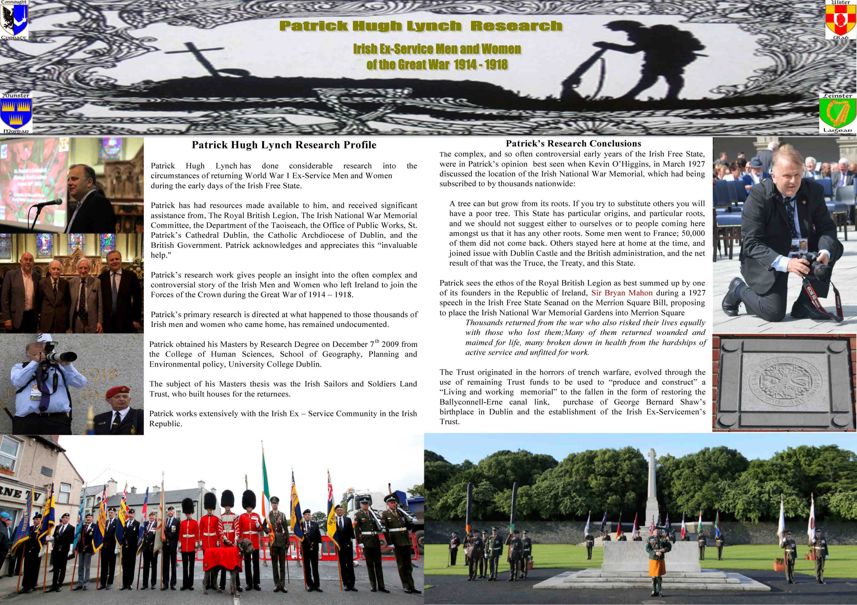 Great War 100 Walk and Talk @ Irish National War Memorial Gardens
