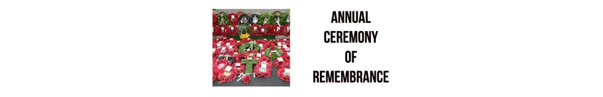 Annual Ceremony of Remembrance and Wreath Laying