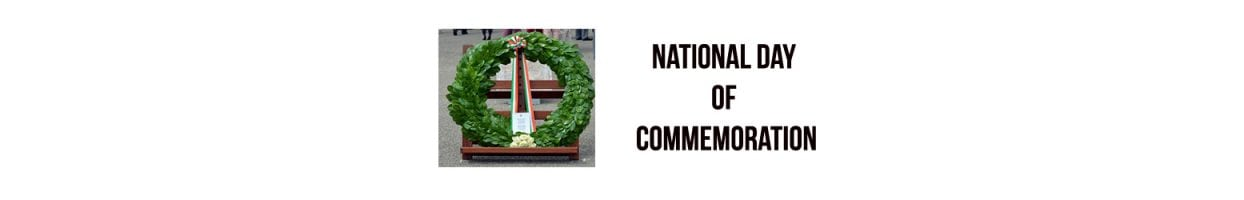 National Day of Commemoration – Sunday 08 July 2018