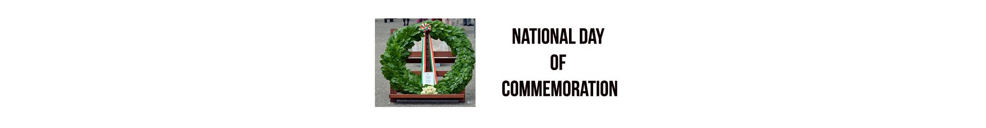 National Day of Commemoration – Sunday 08 July 2018